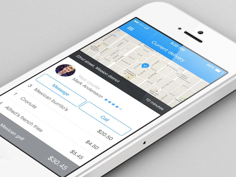 Delivery app for iOs ios7 delivery app blue helvetica neue