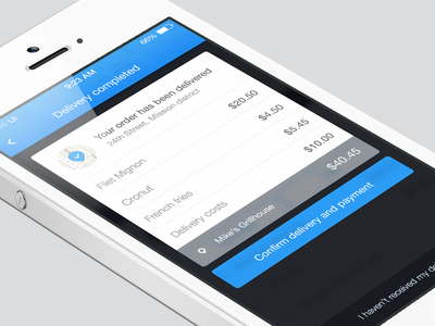 Delivery Completed [iOs] ios7 delivery app blue helvetica neue