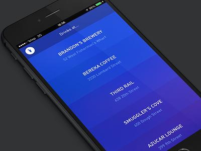 DownForWhat - hackathon project ios hackathon social list ios8 iphone iphone6 ui design interface app