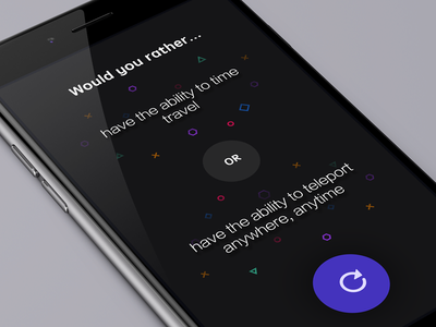 Would you rather...  minimal purple black dark simplicity interface ux ui apple app iphone ios