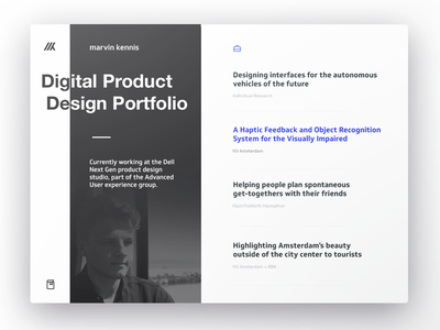 Personal Portfolio website personal showcase ui minimal website portfolio