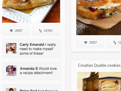 Online Pinboard (Attachment) ipad pinterest ui ios apple buttons lists