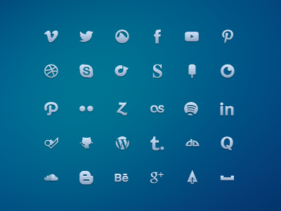 Social icon set social network icon set vector png csh fontface psd