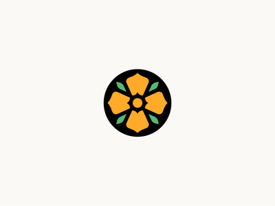 Spring branding identity illustration logo