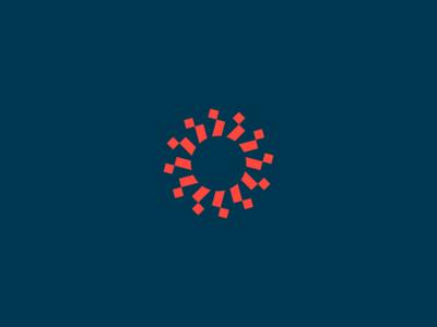 Mark identity branding mark spark sun unused logo symbol