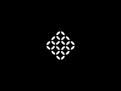 Rings mark symbol logo branding black and white identity