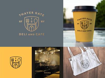 TG logo deli cafe shield gate