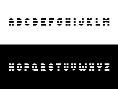 Jailbird type alphabet