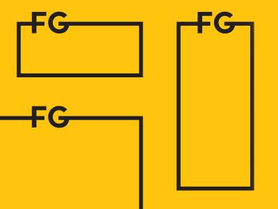 System  identity system box line type logo