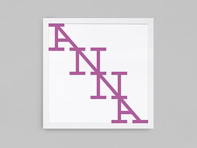 Anna kid ligature slab serif poster type