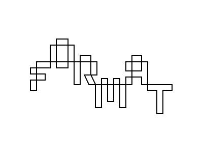 Format grid illustration typography type