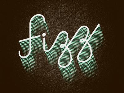 Fizz type typography script texture 3d