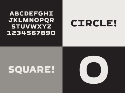Square Circle typography letters type