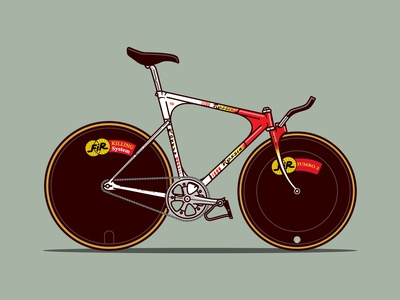Rossin Pursuit Track Bicycle Illustration