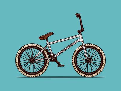 We The People Battleship BMX Bicycle Illustration