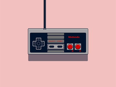 Bold Classic Nintendo Controller Illustration