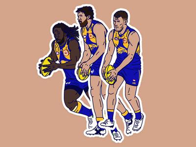 AFL Player Illustrations