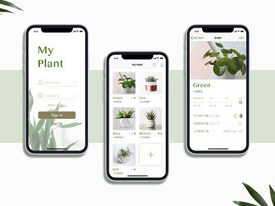Planter APP design app ux ui