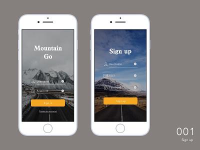 Daily UI _ 001 Sign up app design ui
