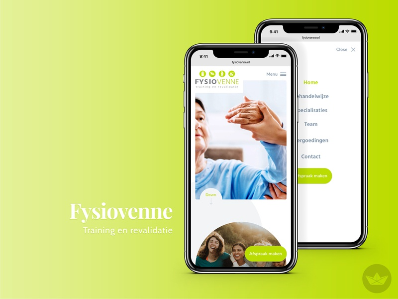 Physiotherapy - WIP ui concept website physiotherapy