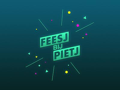 Little side project in personal branding logo personal:branding feestje party