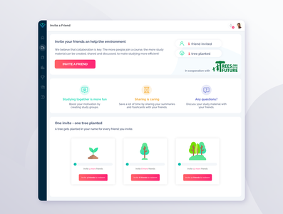 Invite your friends - Referral Page for StudySmarter