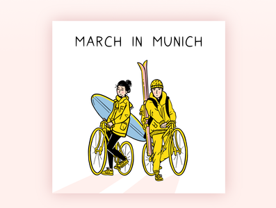 March in Munich - Illustration