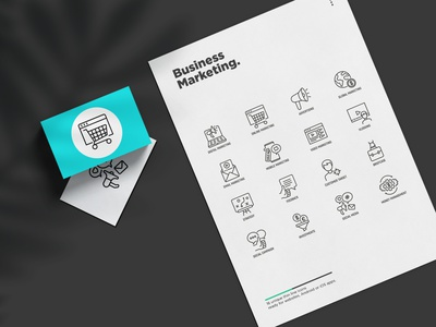 Business Marketing | 16 Thin Line Icons repost sale video envelope email marketing global planet advertising shopping cart website web page online loudspeaker laptop digital business marketing logo set line thin icon