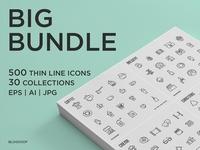 Big Bundle | 500 Thin Line Icons