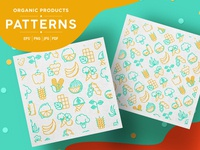Organic Products Patterns Collection