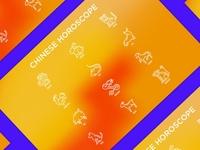 Chinese Horoscope | 12 Thin Line Icons Set