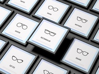 Eyeglasses | 16 Thin Line Icons Set