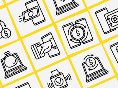 Online Banking | 16 Thin Line Icons Set