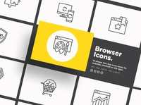 Browser | 16 Thin Line Icons Set
