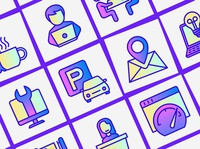 Coworking | 16 Thin Line Icons Set