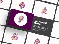 Restaurant Menu | 16 Thin Line Icons Set