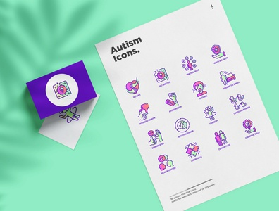 Autism | 16 Thin Line Icons Set