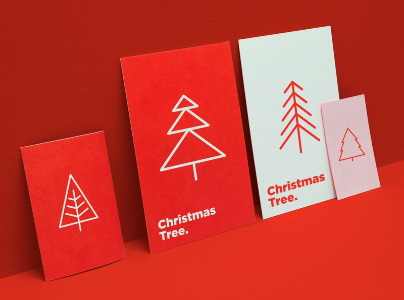Christmas Tree | 16 Thin Line Icons Set decorative nature decoration season greeting element fir-tree set xmas winter simple minimalistic sign greeting card symbol collection celebration christmas holiday tree