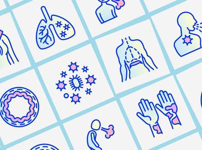Asthma | 16 Thin Line Icons Set