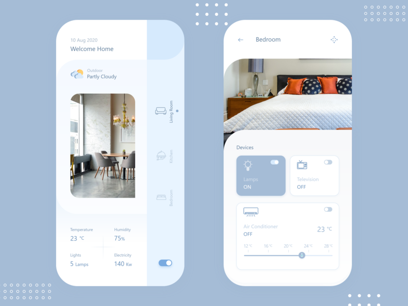 Living Mobile app with temperature concept living home app mobile app design mobile app ui