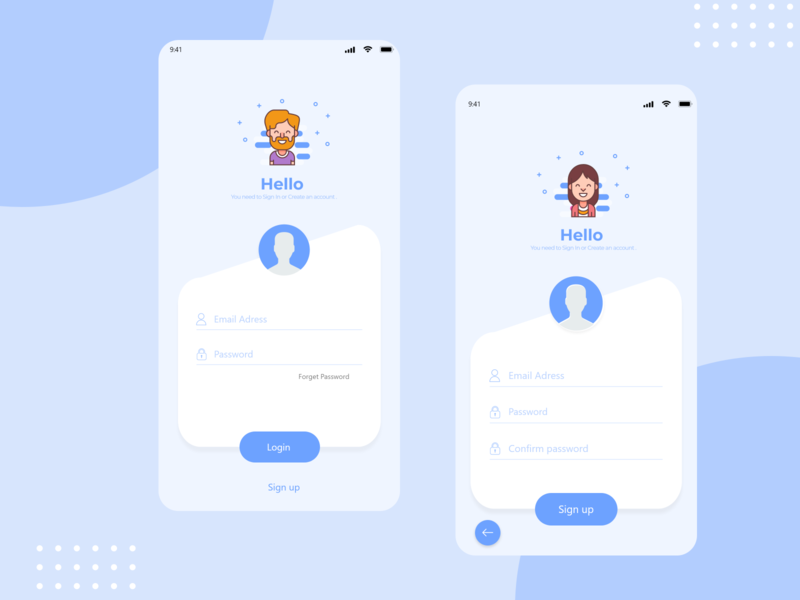 SIMPLE AND SOFT LOGIN UI