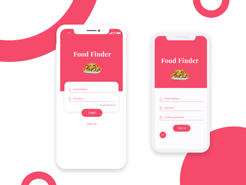 FOOD FINDER APP food app ui