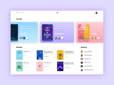 Book Store discover rating site cover colors cards store book books framerjs framer