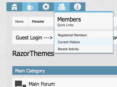 XeroLite for Xenforo xenforo forum style flat design
