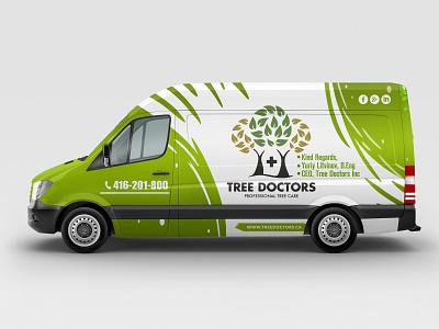 Doctor Van Cover design tree doctor van cover van wrap van doctor van car wrap car