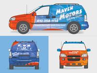 Maven Motors Car Wrap