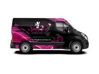 Spray 2 Go Mobile Spray Tanning Van Wrap