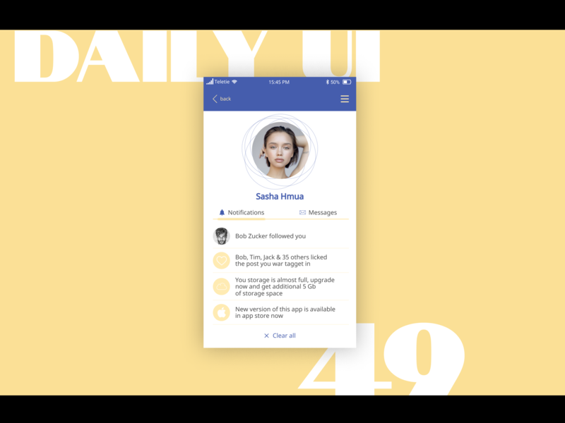 Notifications notifications day49 ui  ux design challenge dailyui