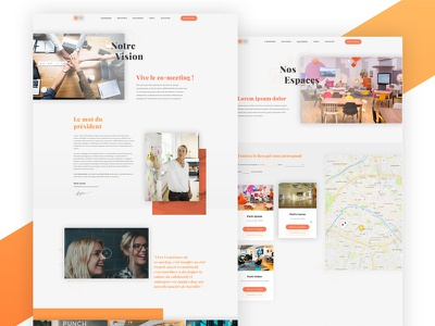 WIP - Coworking services website playfair corporate map places coworking landing