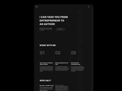 Black on Black (concept | Landing page)